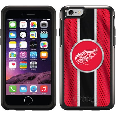 Detroit Red Wings Jersey Stripe Design on OtterBox Symmetry Series Case for Apple iPhone -