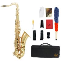 LADE Brass Carved Pattern Pearl Bb Tenor Saxophone