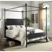 Furniture of America Mallie Queen Metal Canopy Bed in Bronze