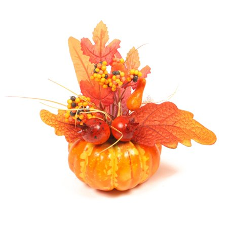 Halloween Fall Festival Game Ideas (Mixture of Artificial Pumpkins, Lifelike Maple Leaves, Realistic Acorn with Natural Cap, Pine Cones for Festival Halloween Thanksgiving Fall Harvest Home)