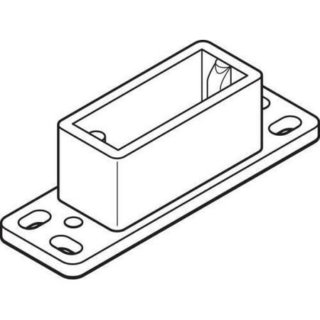 Nylon Drawer Track Rear Guide 3/4 x 2-7/16
