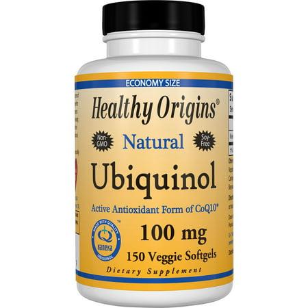Healthy Origins Ubiquinol 100 mg Vegetarian Softgels, 150 Ct 150 Softgels Healthy