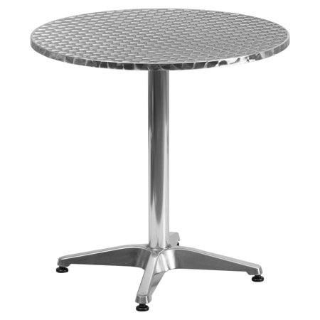 Flash Furniture 27.5'' Round Aluminum Indoor-Outdoor Table with (Aluminum Table)