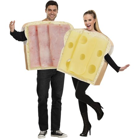 Ham and Swiss Adult Halloween Costume - Socket Costume Couple