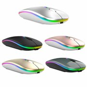 Dazone 2.4GHz Wireless Mouse USB Rechargeable RGB Cordless Silent Mice For PC Laptop