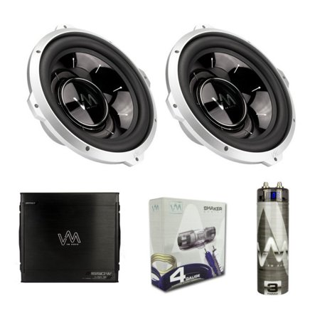 vm audio car stereo 2 1000w subs 1550w 2 channel amplifier capacitor wiring  kit - walmart com