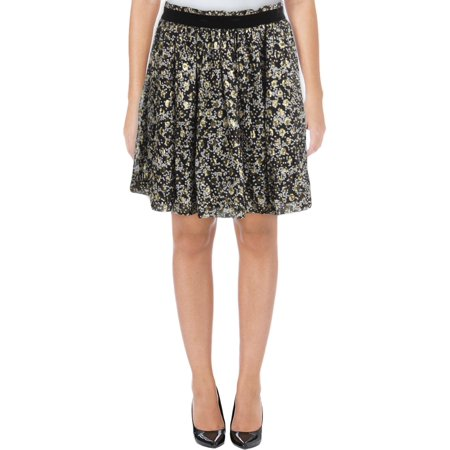 Geometric Silk Skirt (Scotch & Soda Womens Silk Printed A-Line Skirt )