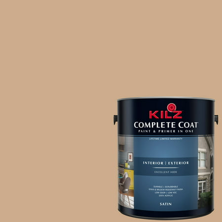 KILZ COMPLETE COAT Interior/Exterior Paint & Primer in One #LC230-02 Peanut Shell