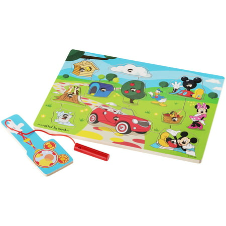 Melissa   Doug  Disney Mickey Mouse Clubhouse Hide   Seek Wooden Magnetic Game 11 Pc Pack