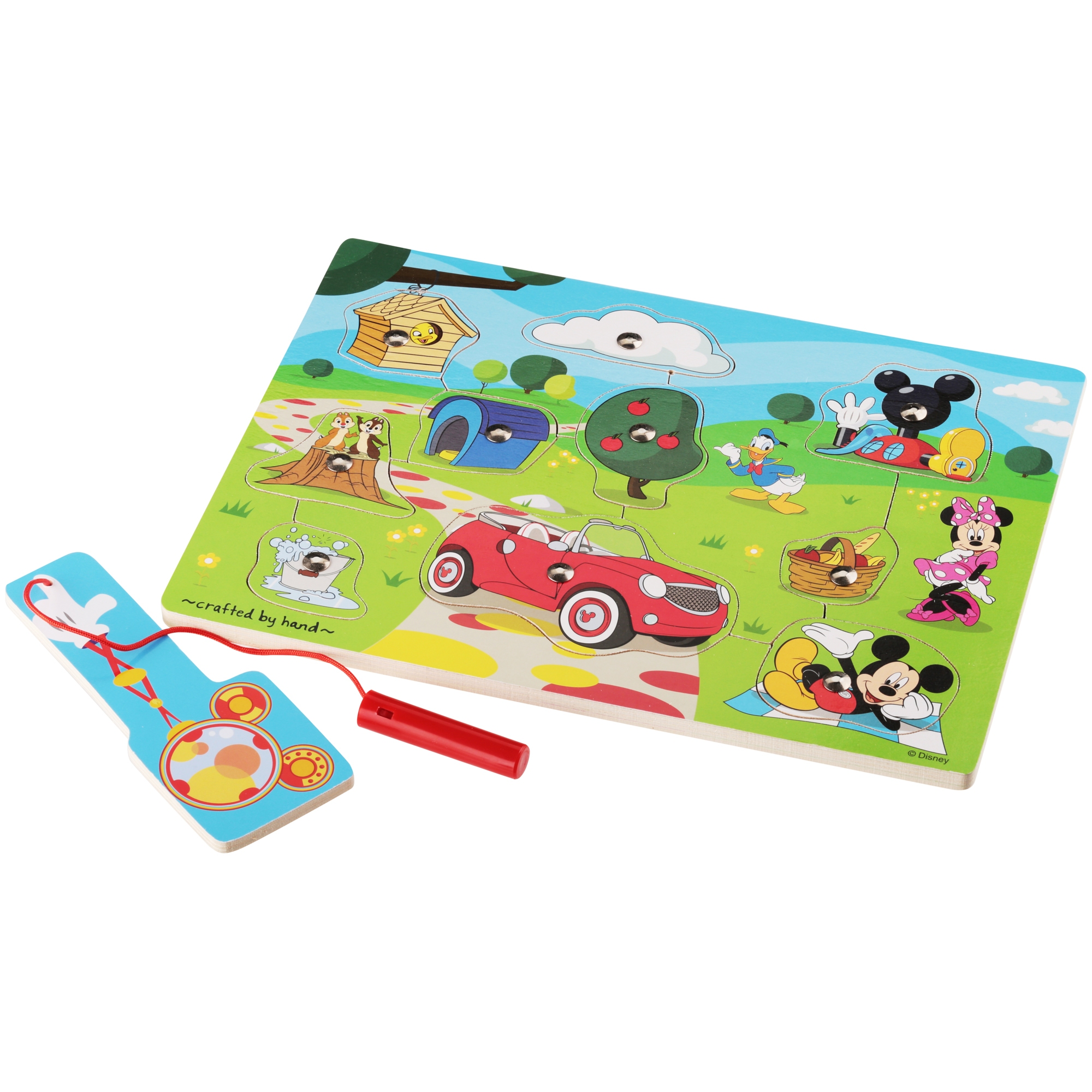 Melissa & Doug® Disney Mickey Mouse Clubhouse Hide & Seek Wooden Magnetic Game 11 pc Pack