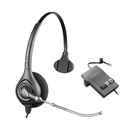 Plantronics SupraPlus HW251 Mono Corded Headset 64336-31 w/ M22 Amplifier