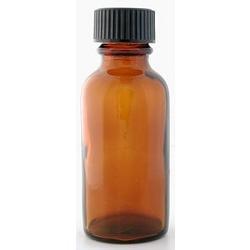 Lotus Brands - Bottle Glass Amber w/Top, 0.5