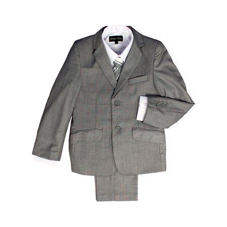 Boys Eaton Suit - Avery Hill Boys Formal 5 Piece Suit With Shirt, Vest, and Tie