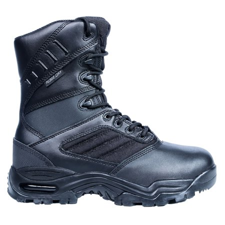 Ridge Footwear Mens Ultimate Zipper 8   Leather Boot Rip Stop Nylon Waterproof