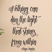 Belvedere Designs LLC Nothing Dims the Light Swirly Wall Decal