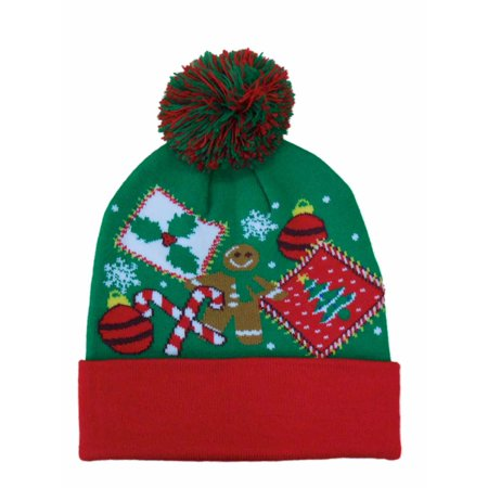 Holiday - Holiday Mens Green Christmas Beanie Stocking Cap Winter Hat -  Walmart.com 0130317c37a
