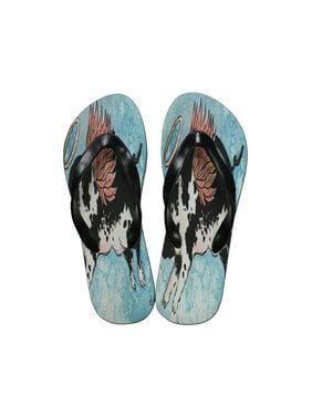 83d30ac1bf1 Product Image KuzmarK Flip Flop Thong Sandals Unisex - Flying Angel Pig  Animal Art by Denise Every