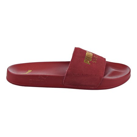 reputable site ff6ab 84550 Puma Leadcat Suede Men's Sandals Red Dahlia/Puma Team Gold 365758-04