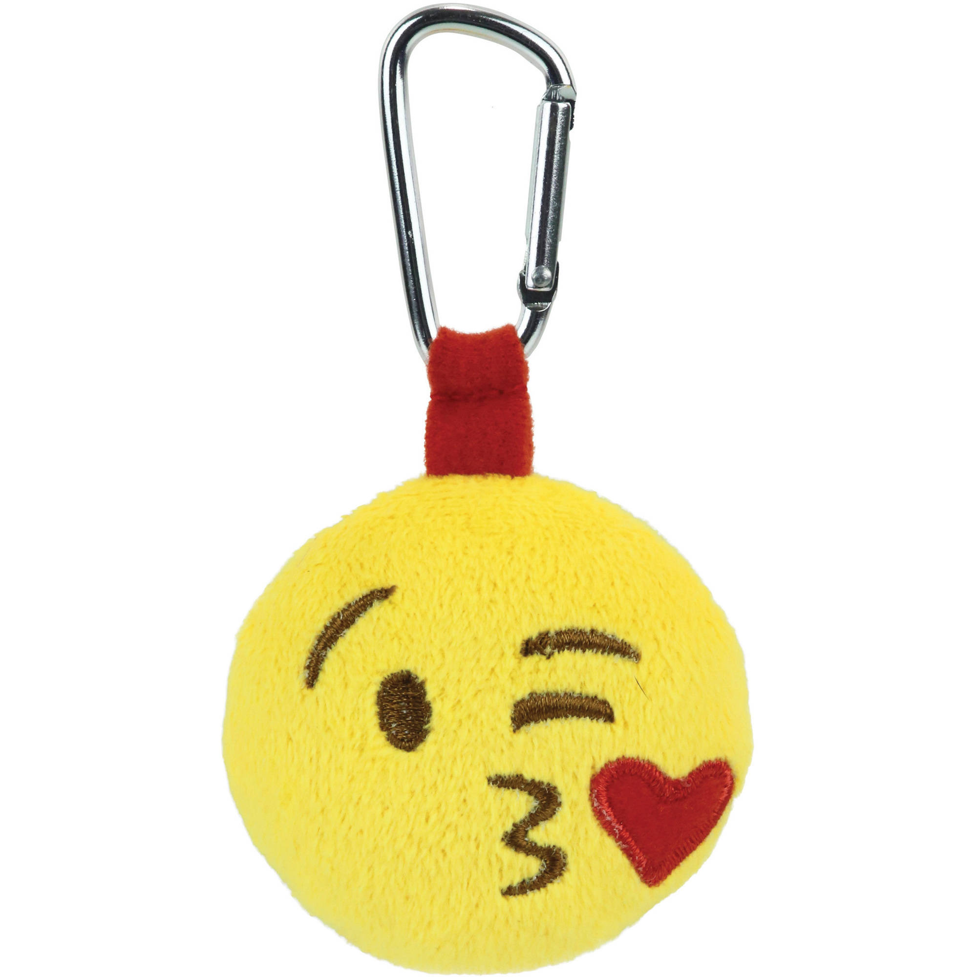 Emoji Backpack Clip, Face Throwing a Kiss
