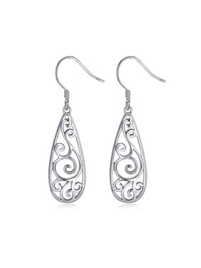 7f9e1d255 Product Image Filigree Hook Sterling Silver Dangle Earrings Ginger Lyne  Collection