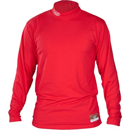 Louisville Slugger Adult Slugger Cold Weather Thermal Tech Long Sleeve Shirt, Red