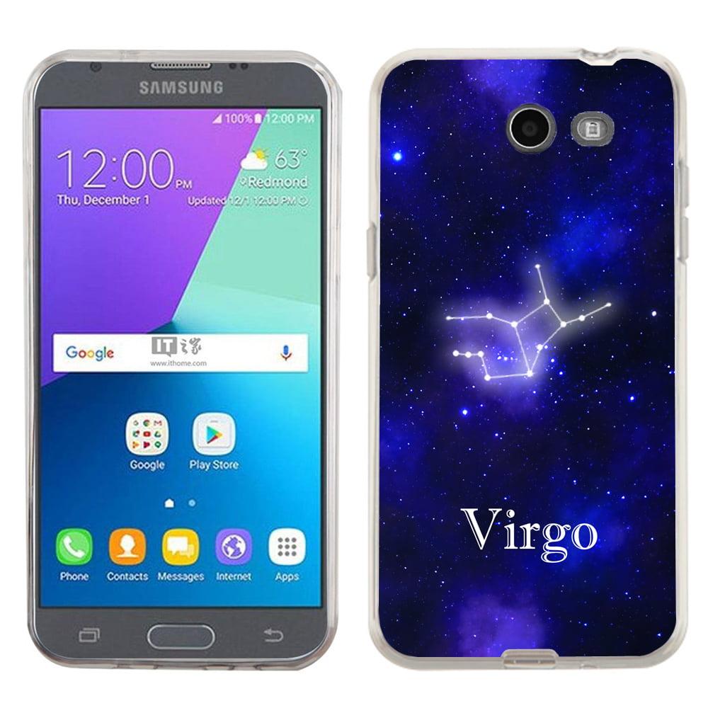 One Tough Shield ® Slim-Fit Premium TPU Gel Phone Case for Samsung Galaxy J3 Emerge - Zodiac / Virgo