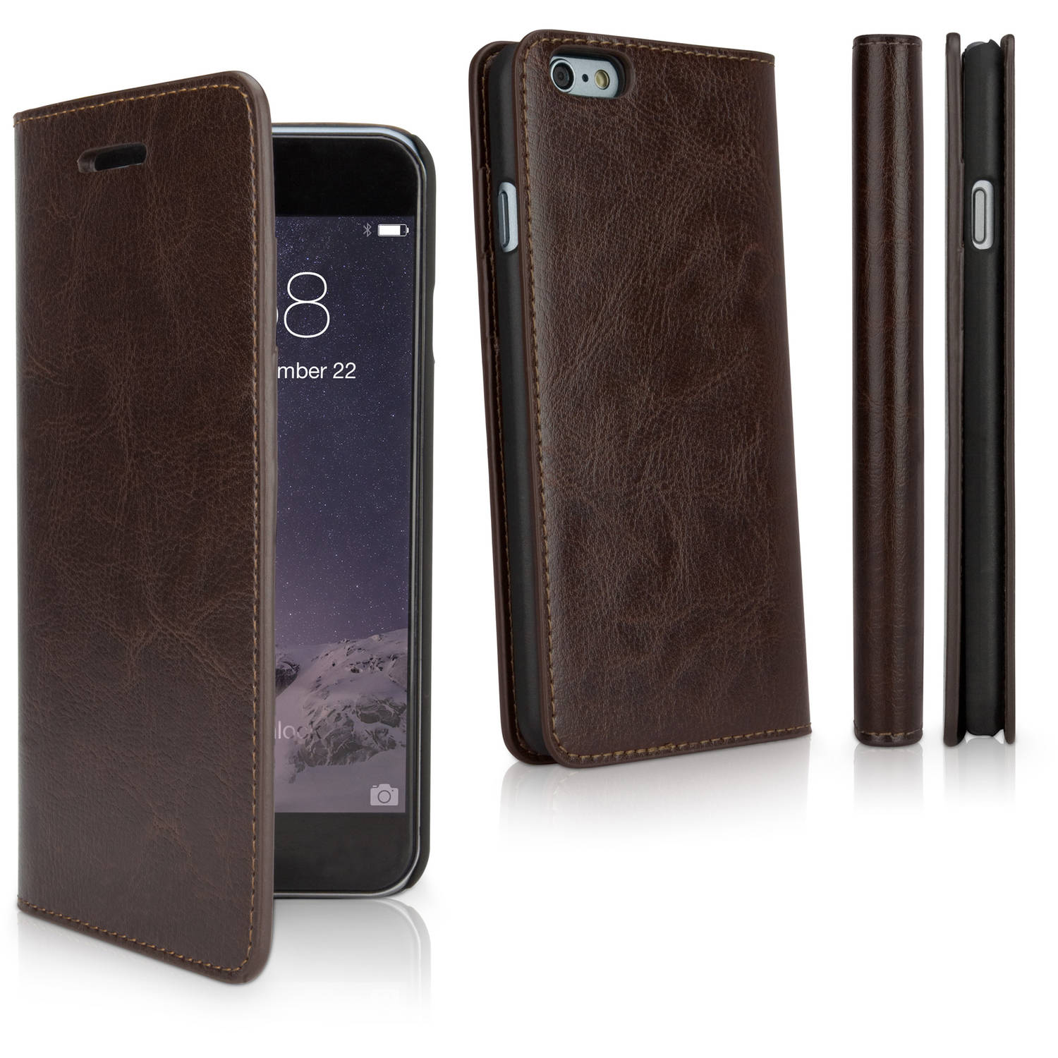 BoxWave Designio Leather Wallet Case for Apple iPhone 6/6s