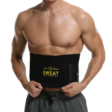 SLIMBELLE Slimming Sauna Waist Trainer Belly Band Sweat Girdle Belt for Weight Loss Back Support