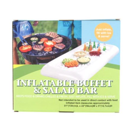 DDI 2319029 Inflatable Salad Bar, White - Case of 12