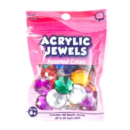 Kids craft acrylic stones 18mm assortment for Craft smart acrylic paint walmart