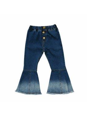 SUNSIOM Fashion Toddler Kids Baby Girls Bell-Bottoms Pants Denim Wide Leg Jeans Trousers
