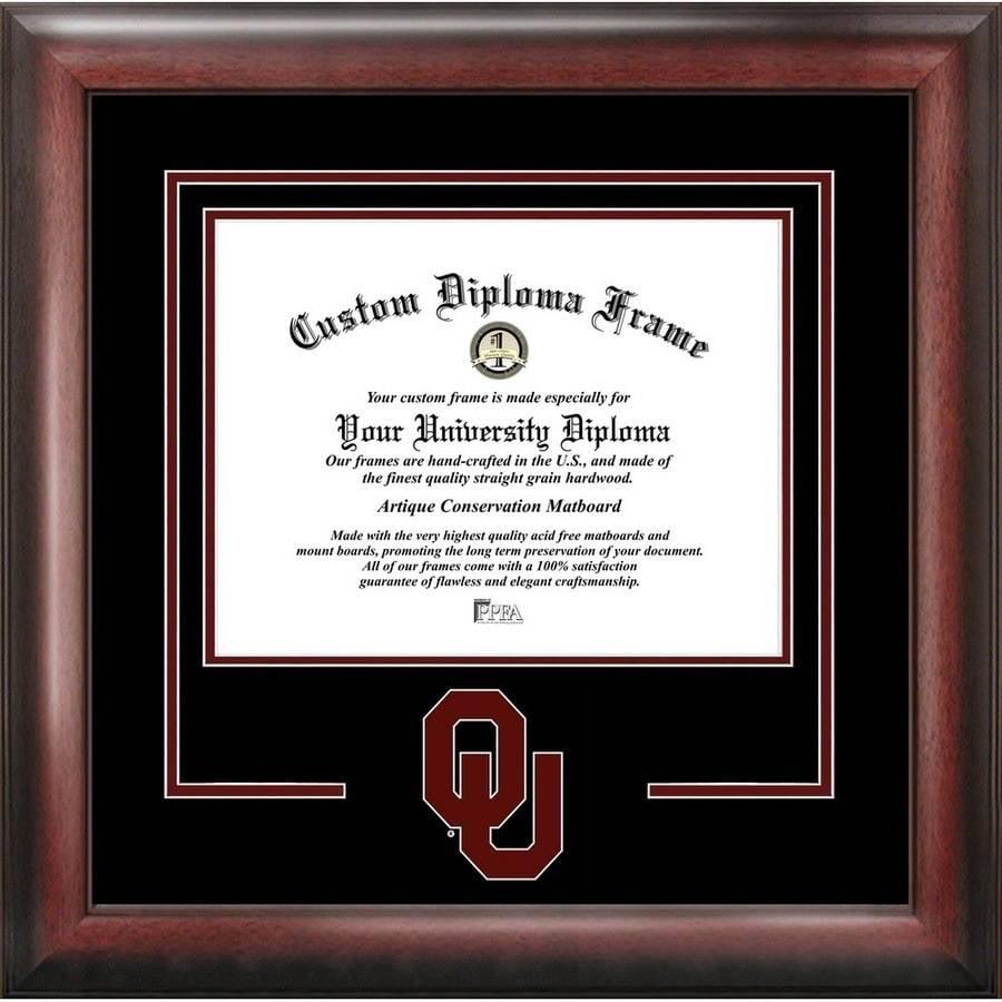 "Oklahoma Sooners 8.5"" x 11"" Spirit Diploma Frame"