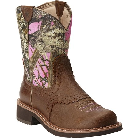 Ariat Women's Fat Vintage Bomber Camo Cowgirl Boot Round Toe - 10015055