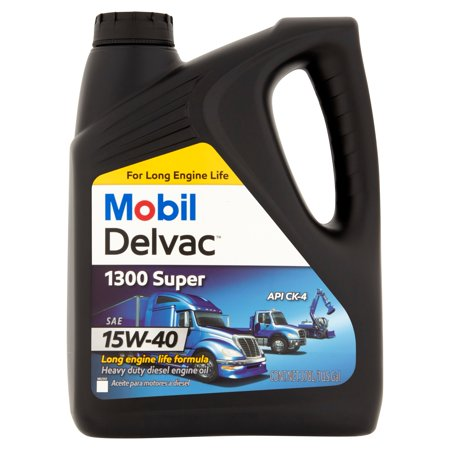 Mobil delvac 1300 super sae 15w 40 heavy duty diesel for Best motor oil for diesel engines