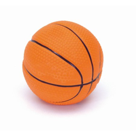 Coastal Pet Products Rascals 83020 R NCLDOG Latex Basketball Dog Toy, 2-1/2 Inch