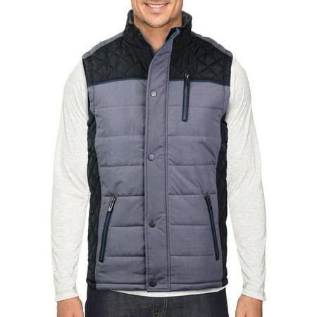 Holstark Men's Zip Up Insulated Fleece Lined Two Tone Vest ()