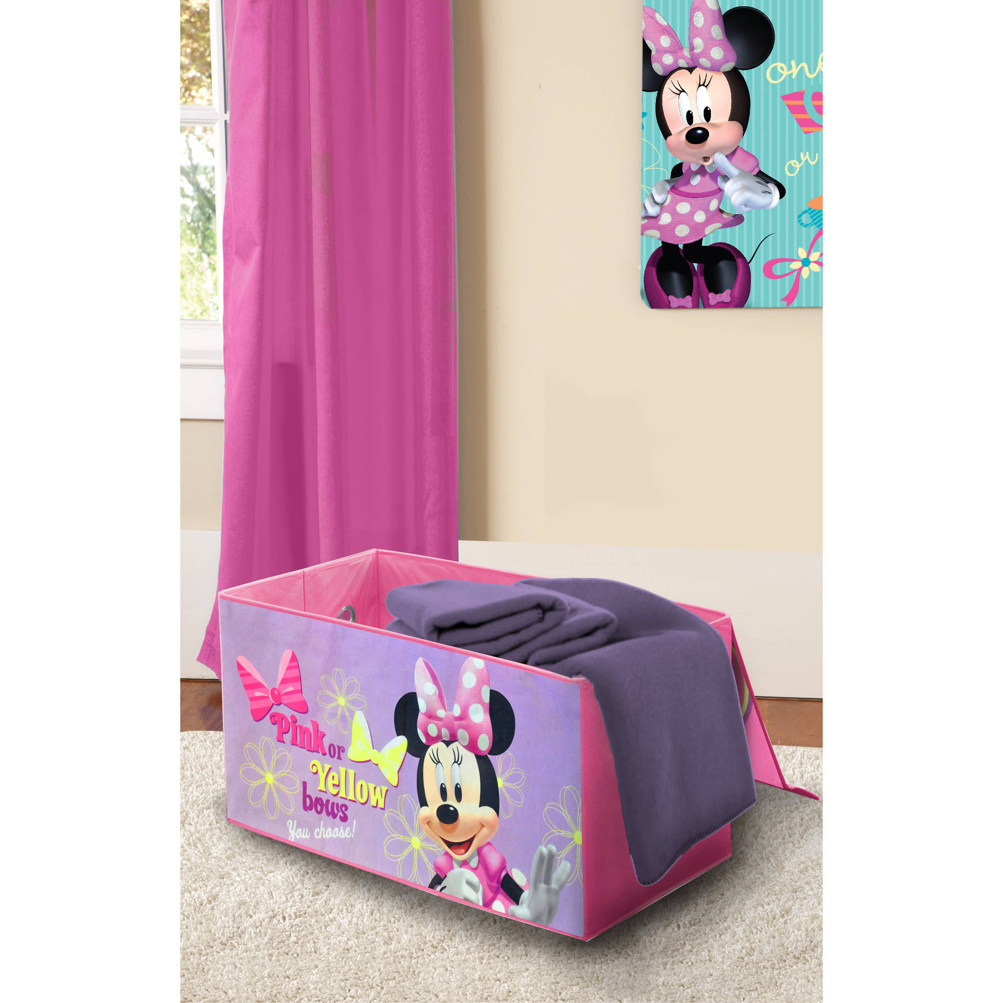 Shop The Collection. Disney Minnie Mouse Oversized Soft Collapsible Storage  ...