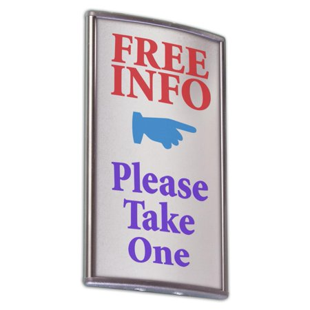 3x5-Inch Nameplate Sign for Wall/Door with Adhesive, Silver Aluminum, Pack of 5 (Adhesive Nameplates)