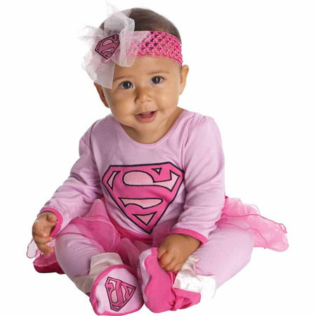 Supergirl Onesie Infant Halloween Costume - Full Body Suit Halloween