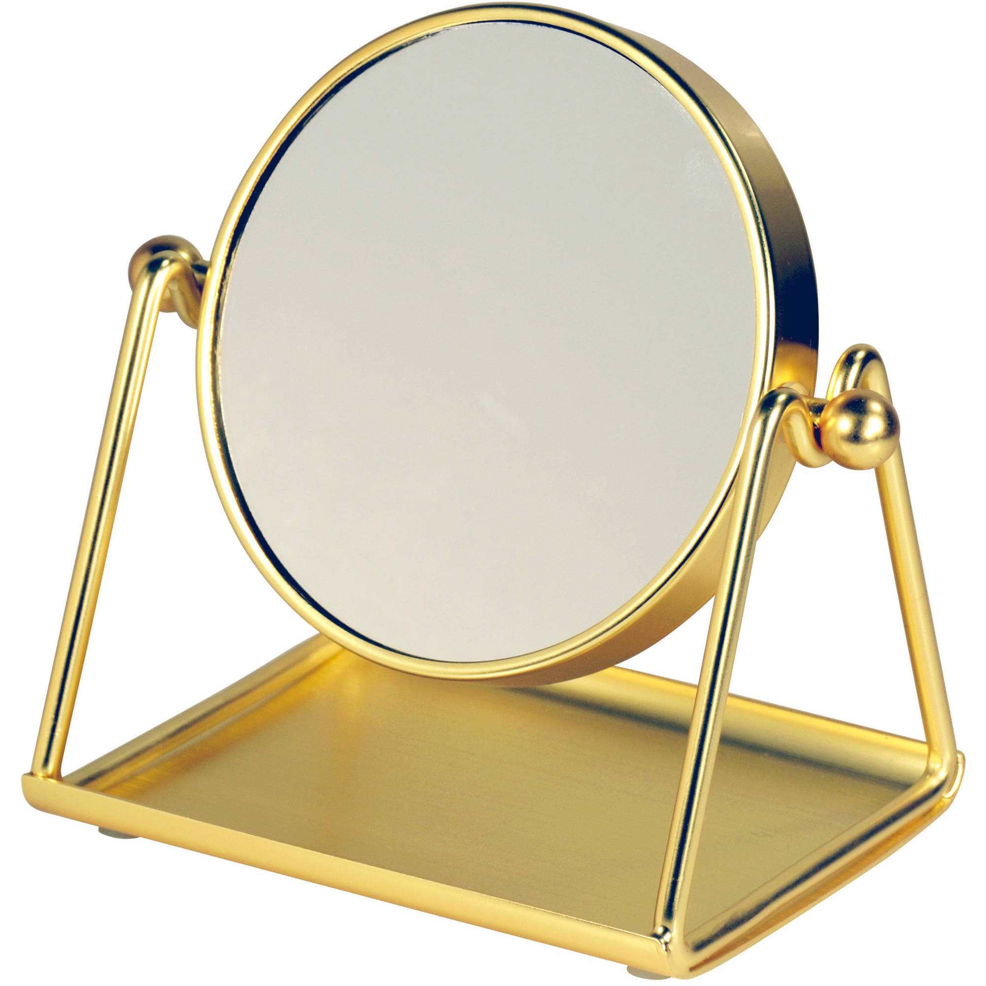 Better Homes and Gardens Personal Vanity Mirror in Gold by CHF Industries, Inc.