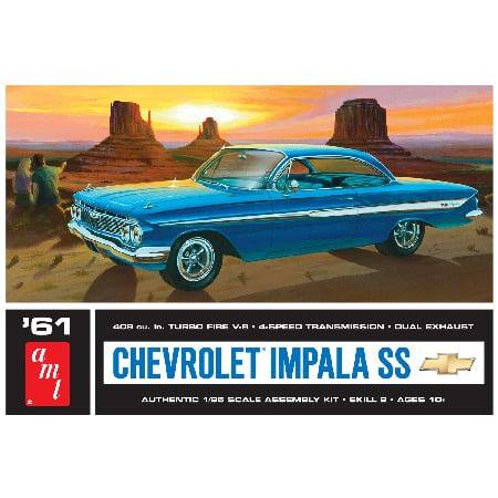 AMT 1013 1:25 1961 Chevy Impala SS Plastic Model Kit