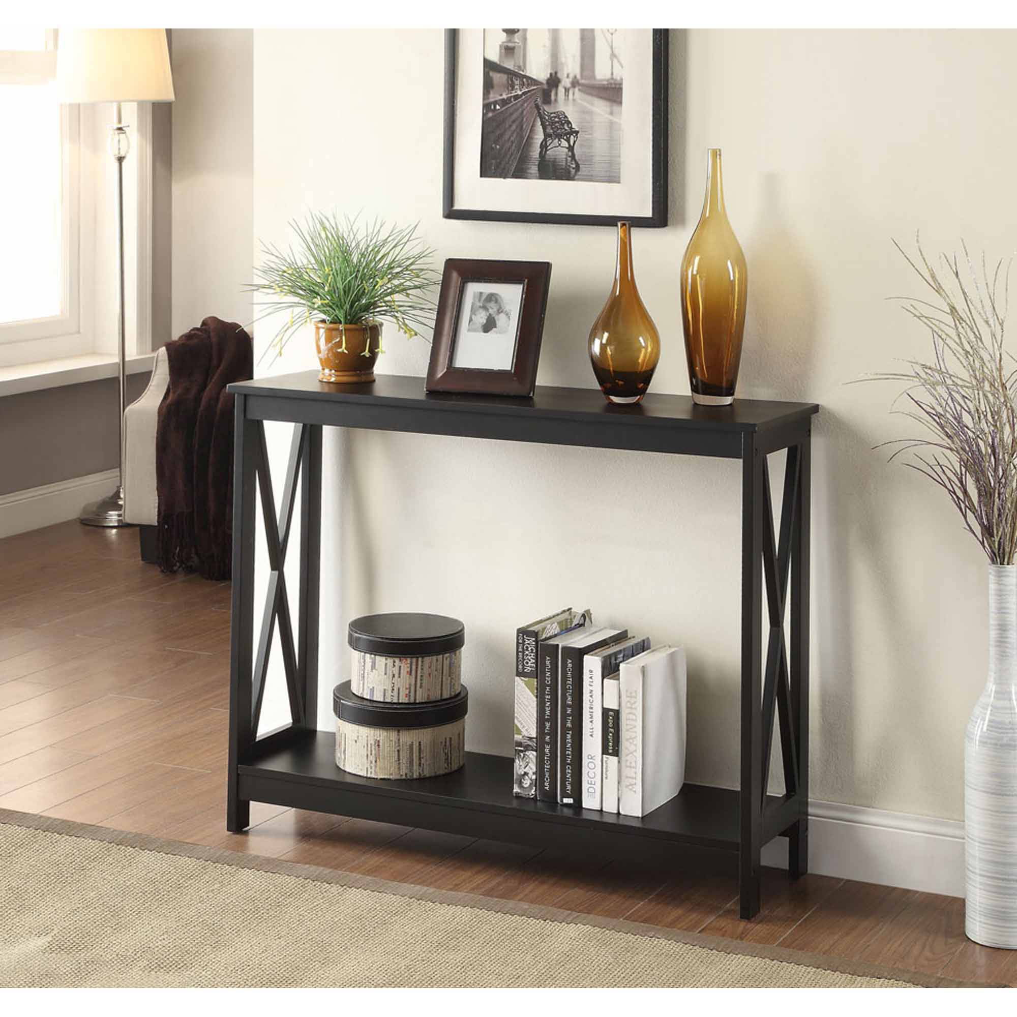 Convenience Concepts Oxford Console Table Multiple Colors Walmartcom