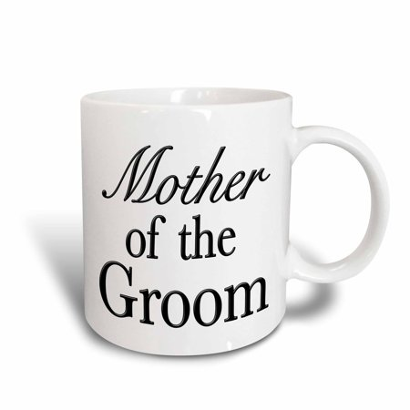 3dRose Mother of the Groom Black - Ceramic Mug,