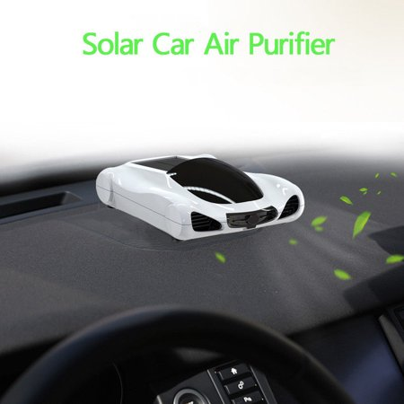 TOPCHANCES Solar Air Purifier,Car Home Negative Ion Generator Aroma Humidifier Activated Carbon HEPA