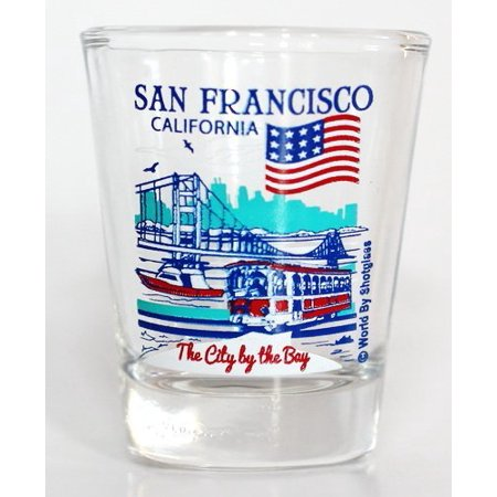 San Francisco California Great American Cities Collection Shot Glass - City Shot Glasses