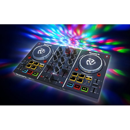 Numark Party Mix   Starter Dj Controller With Built In Sound Card   Light Show  And Virtual Dj Le Software Download