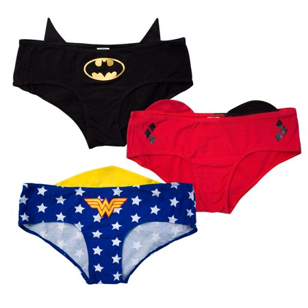 marketable multiple colors so cheap DC Comics Female Superhero Women's 3-Pack Panties