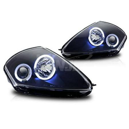 - Winjet 2000-2005 Mitsubishi Eclipse Black Clear Halo Projector Head Light WJ10-0215-04