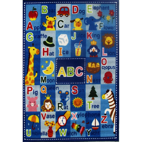 """Fun Rugs Letters and Names Kids' Rug, Blue, 3'3"""" x 4'10"""" FT-95 3958"""