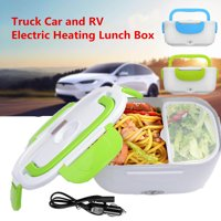 Portable 12V-24V Electric Heating Food Warmer Lunch Box Food Storage Meal Heater with Plug Adapter for Boat Truck Car and RV